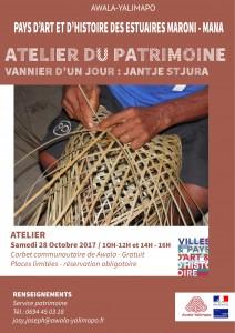Atelier du patrimoine vannerie-Octobre 2017
